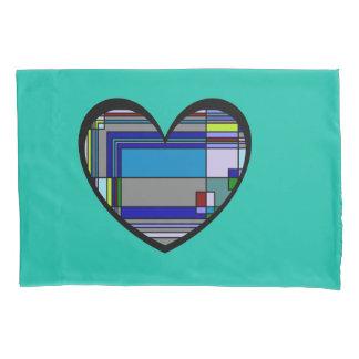 レトロのカラフルなハートの抽象芸術 枕カバー