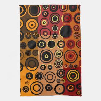 レトロのカラフルな五十年代の抽象美術3 キッチンタオル