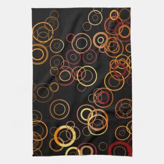レトロのカラフルな五十年代の抽象美術 キッチンタオル