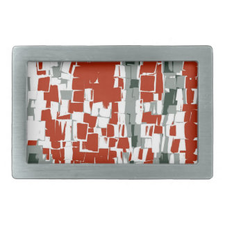レトロのカラフルの抽象芸術のアールデコ 長方形ベルトバックル