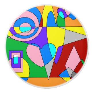 レトロのカラフルの抽象芸術 セラミックノブ