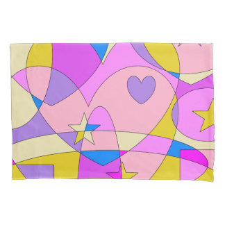 レトロのカラフルの抽象芸術 枕カバー