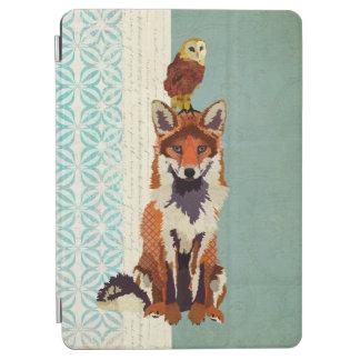 レトロのキツネ及びフクロウのiPadの場合 iPad Air カバー