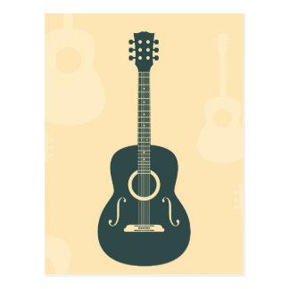 レトロのギターの音響音楽 ポストカード