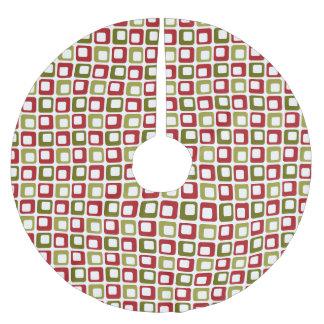 レトロのクリスマスの点検 ブラッシュドポリエステルツリースカート
