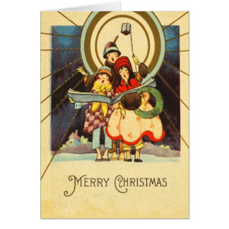 レトロのクリスマスキャロルカード カード