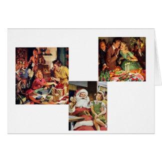 レトロのクリスマス カード