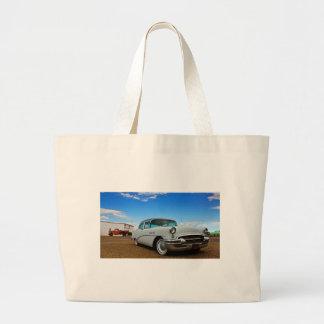 レトロのクロムの十分のクラシックな車 ラージトートバッグ