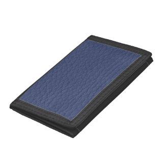 レトロのグランジな濃紺の革カスタム ナイロン三つ折りウォレット
