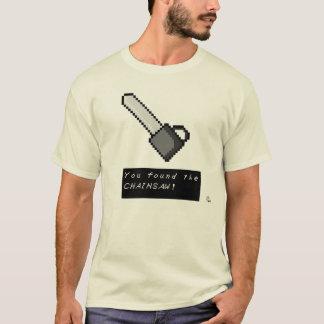 レトロのゲーマーのチェーンソーのワイシャツ Tシャツ