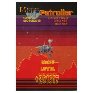 レトロのゲーム80のスタイルの火星Patroller ウッドポスター
