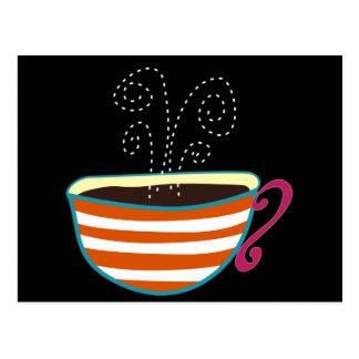 レトロのコーヒーカップの茶カスタム ポストカード