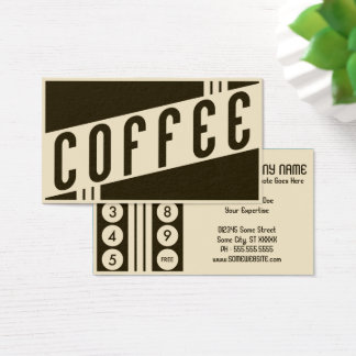 レトロのコーヒー顧客のロイヤリティ 名刺