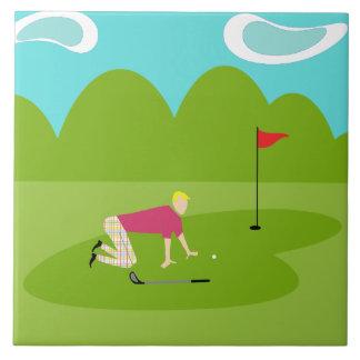 レトロのゴルファーのセラミックタイル タイル