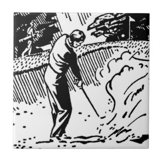 レトロのゴルファーの砂トラップ タイル