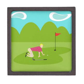 レトロのゴルファーの磁気木のギフト用の箱 ギフトボックス