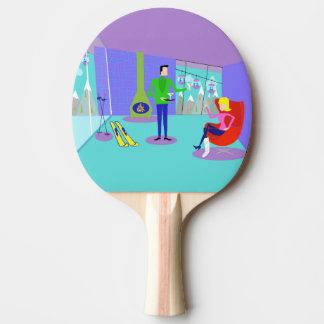 レトロのスキー休暇の卓球ラケット 卓球ラケット