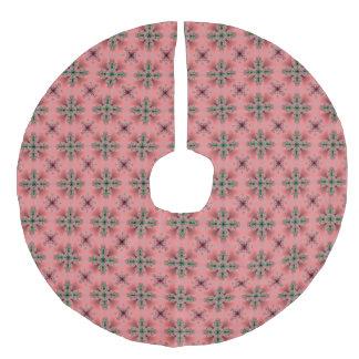 レトロのスタイルのクリスマスArtdeco フェイクリネンツリースカート