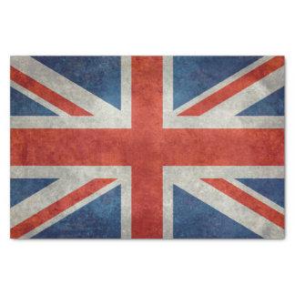 レトロのスタイルのヴィンテージの質感の英国国旗のイギリスの旗 薄葉紙