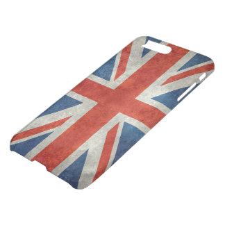 レトロのスタイルのヴィンテージの質感の英国国旗のイギリスの旗 iPhone 8 PLUS/7 PLUS ケース
