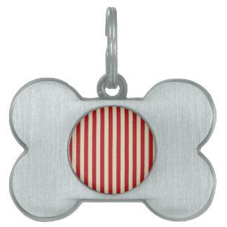レトロのスタイルの縦のポップコーンのクラシックは縞で飾ります ペットネームタグ