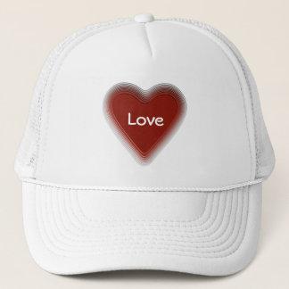 レトロのスタイルの赤いハートの帽子 キャップ