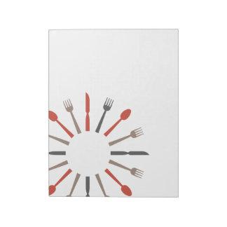 レトロのスタイルの銀器のデザイン ノートパッド