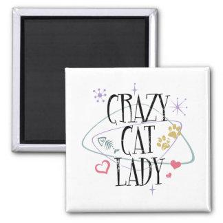 レトロのスタイルMagnet熱狂するな猫の女性 マグネット