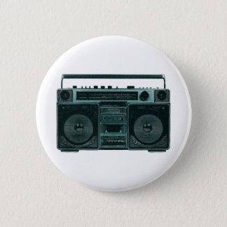 レトロのステレオボタン 缶バッジ