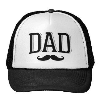 レトロのタイポグラフィのパパの髭の父の日 メッシュハット