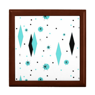 レトロのターコイズのダイヤモンド及びスターバストの記念品箱 ギフトボックス