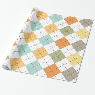 レトロのダイヤモンドパターンギフト用包装紙 ラッピングペーパー