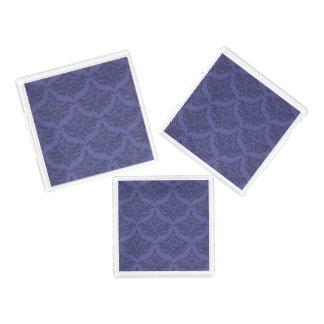 レトロのダマスク織のブロケードのブルーベリーの紫色 アクリルトレー