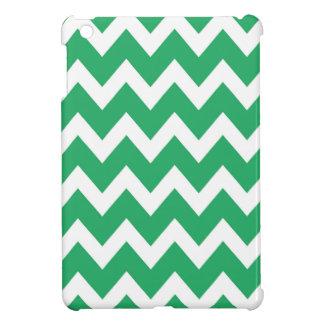 レトロのティール(緑がかった色)のジグザグパターン iPad MINIカバー