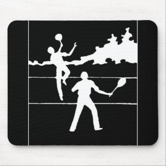 レトロのテニスのシルエット マウスパッド