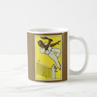 レトロのテニス選手権の広告の20年代のスタイル コーヒーマグカップ