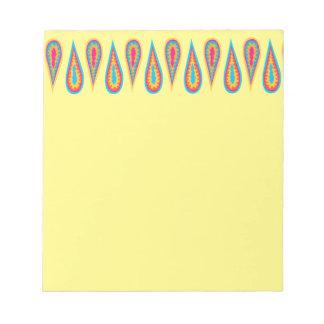 レトロのデザインのスクラッチ・パッド ノートパッド