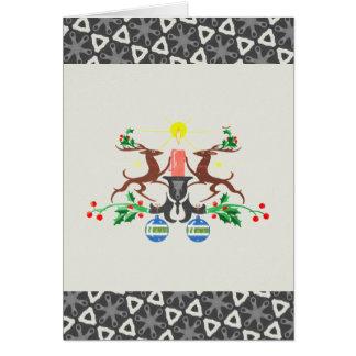 レトロのトナカイ カード