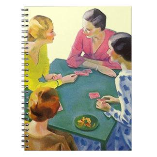 レトロのノートのトランプゲームジャーナル橋ギフト ノートブック