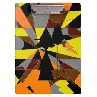 レトロのハロウィンの魔法使いの抽象芸術 クリップボード