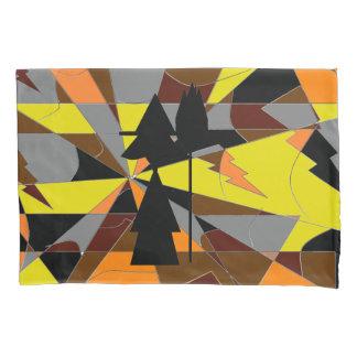 レトロのハロウィンの魔法使いの抽象芸術 枕カバー
