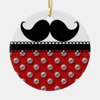 レトロのハンドルバーの髭の口ひげ セラミックオーナメント