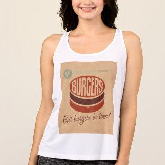 レトロのハンバーガー タンクトップ