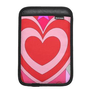 レトロのバレンタインのハートの抽象芸術 iPad MINIスリーブ