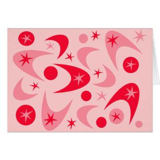 レトロのバレンタインのブーメラン カード