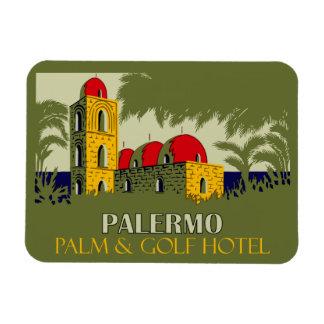レトロのパレルモシシリーのホテル旅行広告 マグネット
