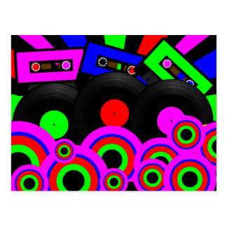 レトロのパーティーのデザイン ポストカード