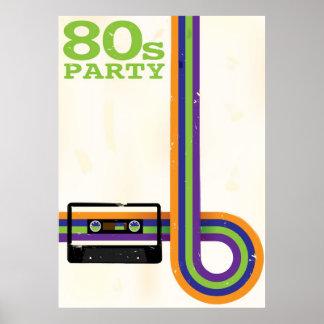 レトロのパーティーの背景 ポスター