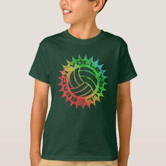 レトロのビーチバレーのワイシャツ Tシャツ