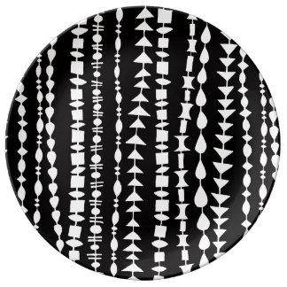 レトロのビードのカーテンの磁器皿 磁器プレート
